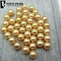 seawater loose pearl 9-12mm AAAA gold pearl good luster perfect round pearl
