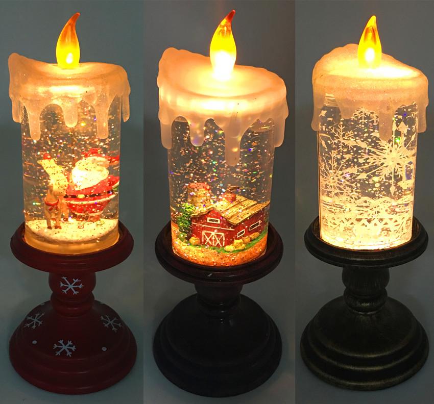 goblet long stem led glitter liquid christmas candle light buy glitter liquid christmas candle lightled christmas candle lightsglitter candle light - Led Christmas Candles