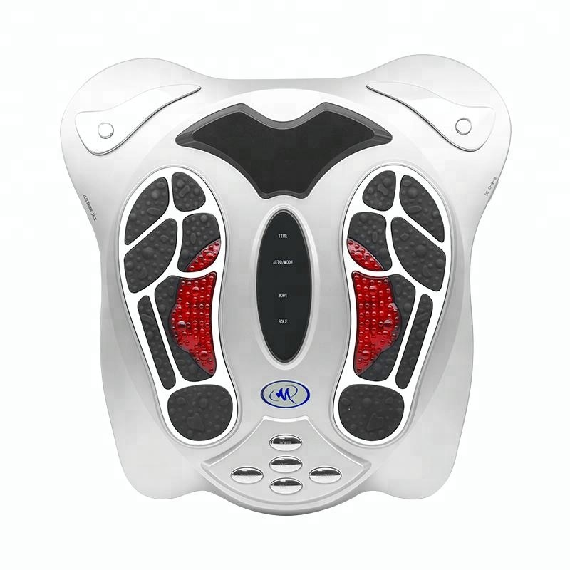 Health protection instrument electric foot massage machine with electrode paster Infrared TENS EMS foot massager