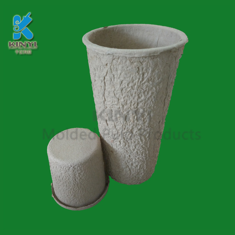 Custom eco-friendly pulp molded fiber paper flower pots suppliers