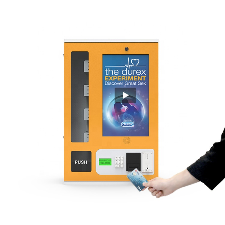 Condoms / Medical Pills / Tooth paste set Small Vending Machine With Card Swipe