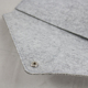 A4 size simple carring wool felt snap button file document folder bag for women