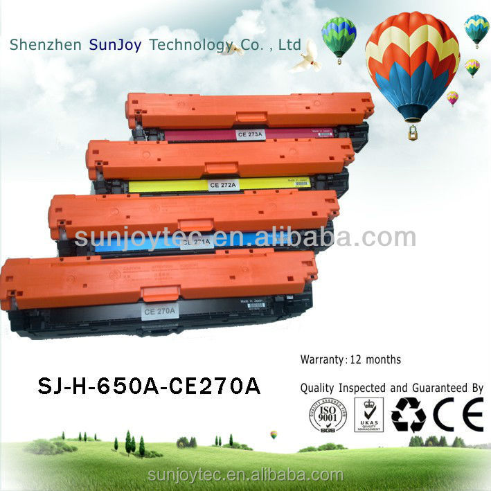Recycled Laser Printer Cheap Toner Cartridge for HP 650A CE270A