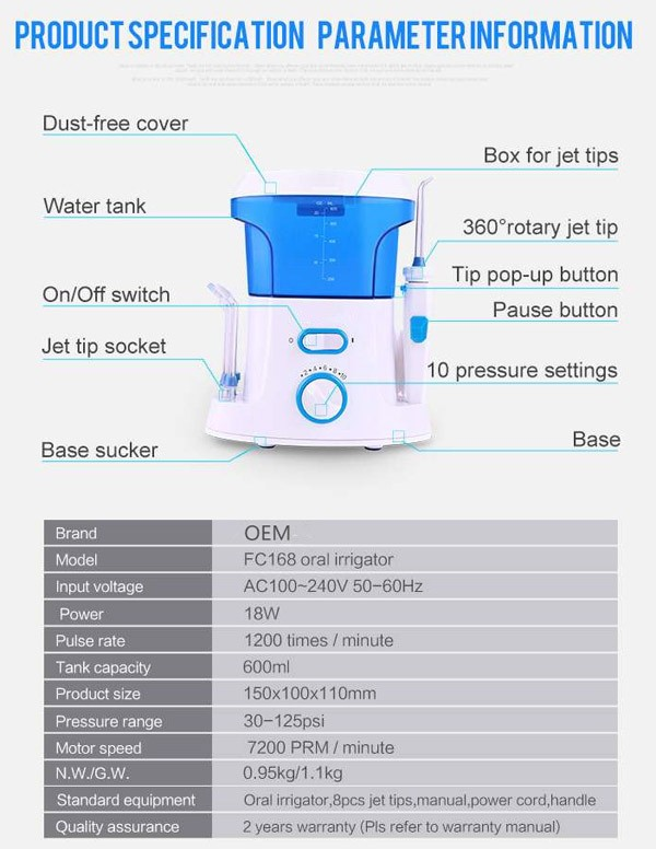 dental oral irrigator, irrigation water pump, digital tooth pick