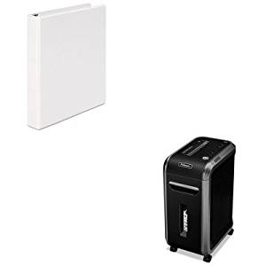 KITFEL4690001UNV20962 - Value Kit - Fellowes Powershred 90S Heavy-Duty Strip-Cut Shredder (FEL4690001) and Universal Round Ring Economy Vinyl View Binder (UNV20962)