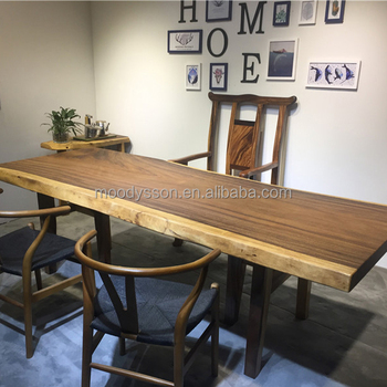 Antique Style Natural Wood Irregular Shape Rustic Walnut Slab Factory Supply Dining Table Top View M Design Product Details From Wuxi More