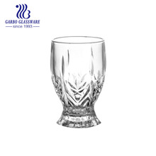 200ml moroccan design V shaper tea glass cup with short stem crystal drinking glass wine cups
