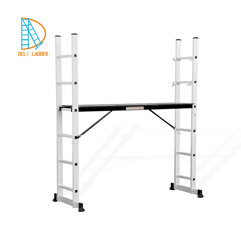 Yongkang deli ladder aluminium fold scaffold ladder with platform