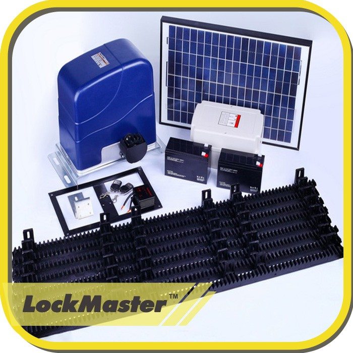 Solar powered sliding gate opener remote control buy