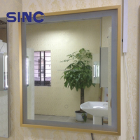 New model champagne color bathroom Mirror with LED Light
