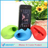 2014 new egg shape silicone music speaker for iphone