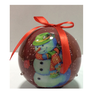 Promotional Snowman Design Christmas Ornament Parts Christmas Ball