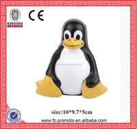 Sitting Penguin Stress Toy Custom PU Animal Squeeze Foaming Children Play for Toy Penguin