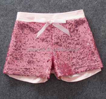Rose Red Shiny Shorts Wholesale Children Clothes Baby Sequin ...
