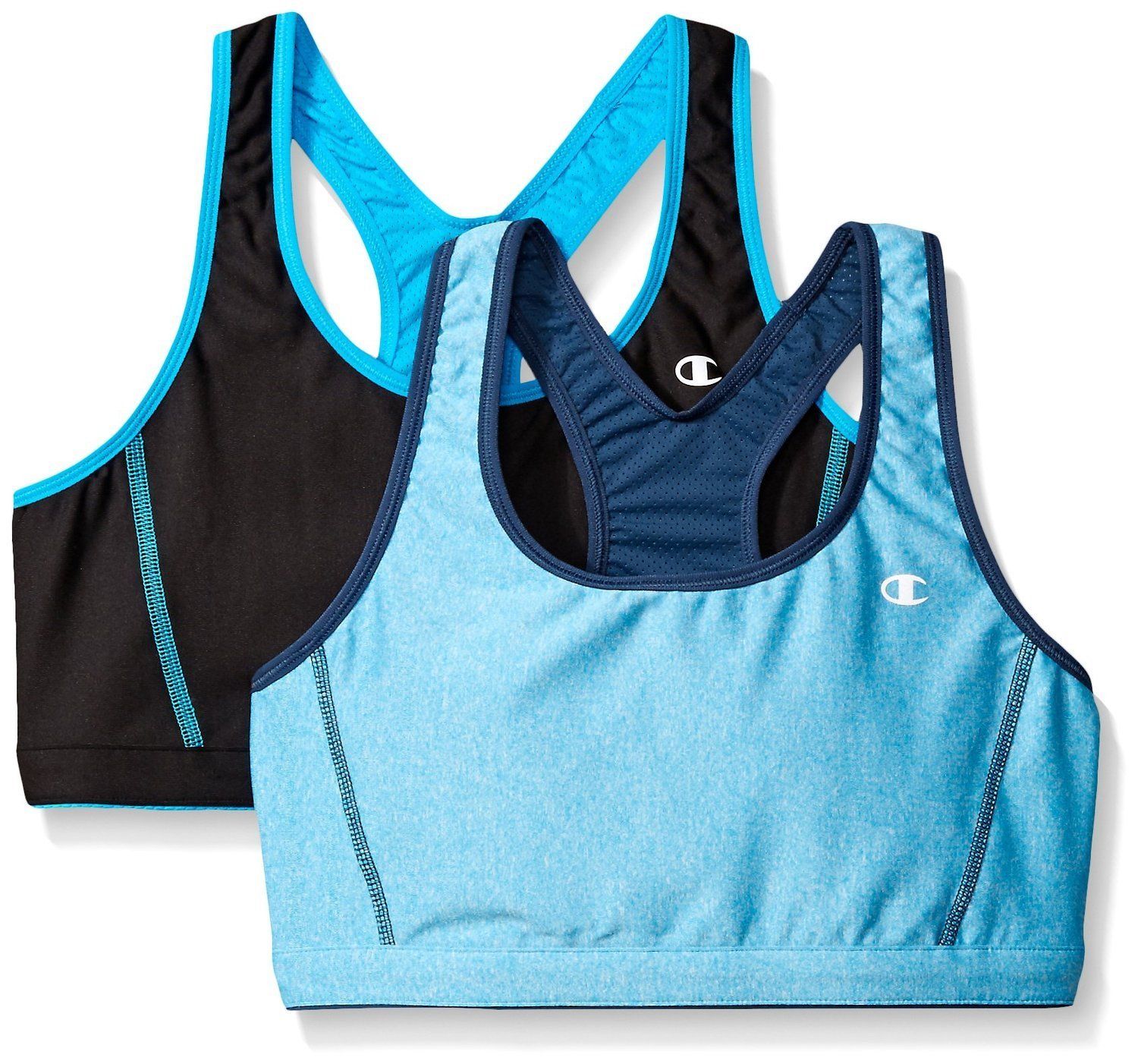 f4c17ca6a6aad Get Quotations · Champion Womens 2-Pack Reversible Double Dry Sports Bras