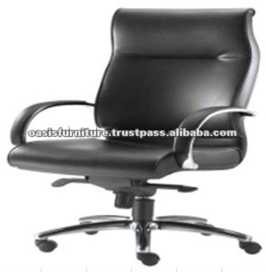 OASIS PLATINUM Brandt Modern Leather Swivel Office Chair