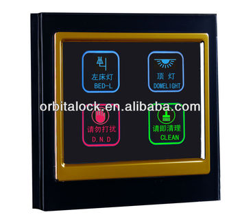Orbita Touch Screen Light Switch Panel For Hotel Bedroom Lighting Control
