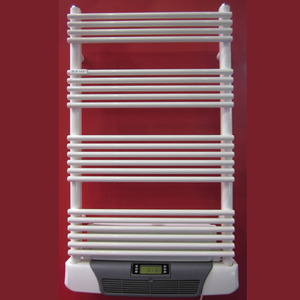 Decorative electric towel rack with electric air blower and oil