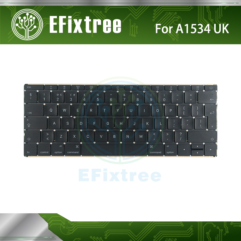 Original Perfect Function A1534 Keyboard For Macbook 12 inch UK Keyboard Replacment 2015 Uk MLHA2 MLHC2 EMC 2991