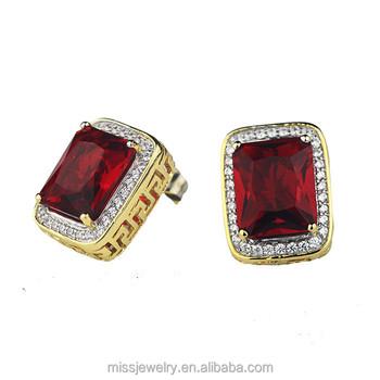 Missjewelry Hip Hop 18k Gold 2 Gram Plated Ruby Earring Jhumka Design Jhumke For