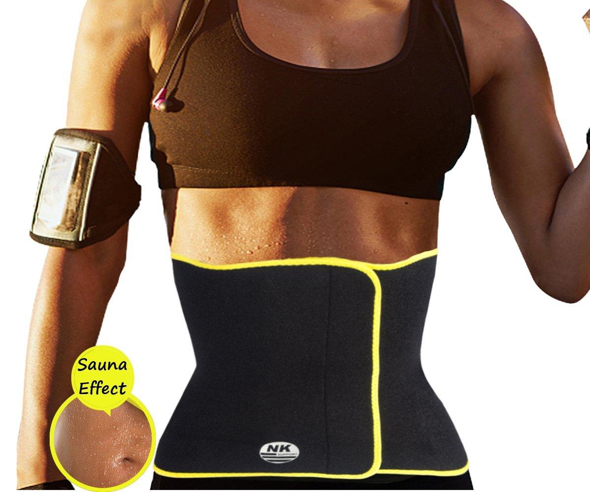 6c0892f6f3 Get Quotations · DODOING Hot Slimming Belt Sweat Neoprene Body Shapers  Waist Trainer Trimmer Belt for Men and Women