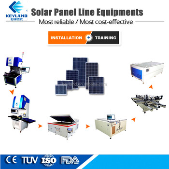 Keyland Solar Pv Module Making Plant For Producing Solar Panel Type Solar  Panel Manufacturing Machines - Buy Pv Module Making,Solar Panel