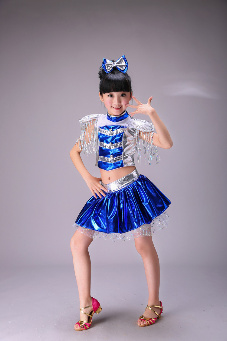 a9360469bff6 2017 New Children Jazz Dance Skirt Sequin Modern Dance Costumes For Kids  Cheerleading Skirt Costumes Girl Cheerleading Dancewear