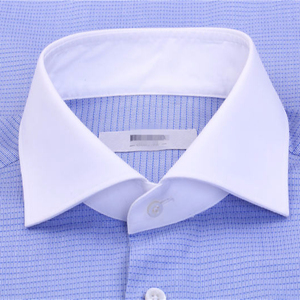 100% cotton woven mens shirt with contrast collar and cuff