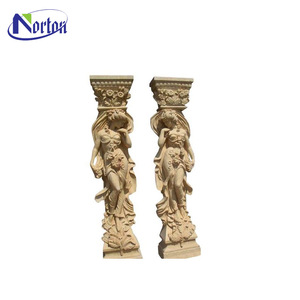 Cheap hot sell solid marble column pillars design NTMH-089