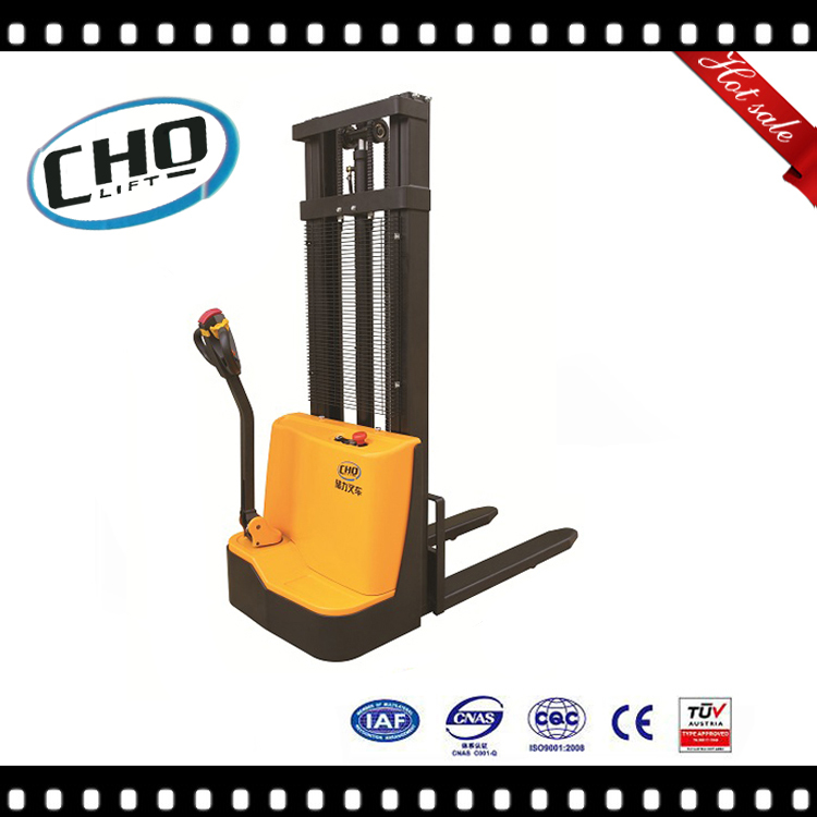2017 New CE Cholift 1.2 Ton Full Electric Walkie Stacker Fork lift machine