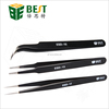 BEST Antistatic ESD Stainless Steel Tweezers with Fine Tips
