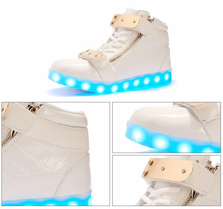 Tige Sur Cuir En Chaussures Fabrication Led Pas De Lutte Mesure Cher USrUBZn