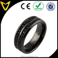 Vlink jewelry titanium stainless steel jewellery men's fashion rings