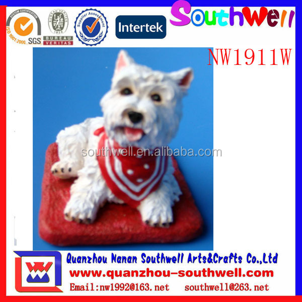wholesale custom made custom polyresin animal dog figurine
