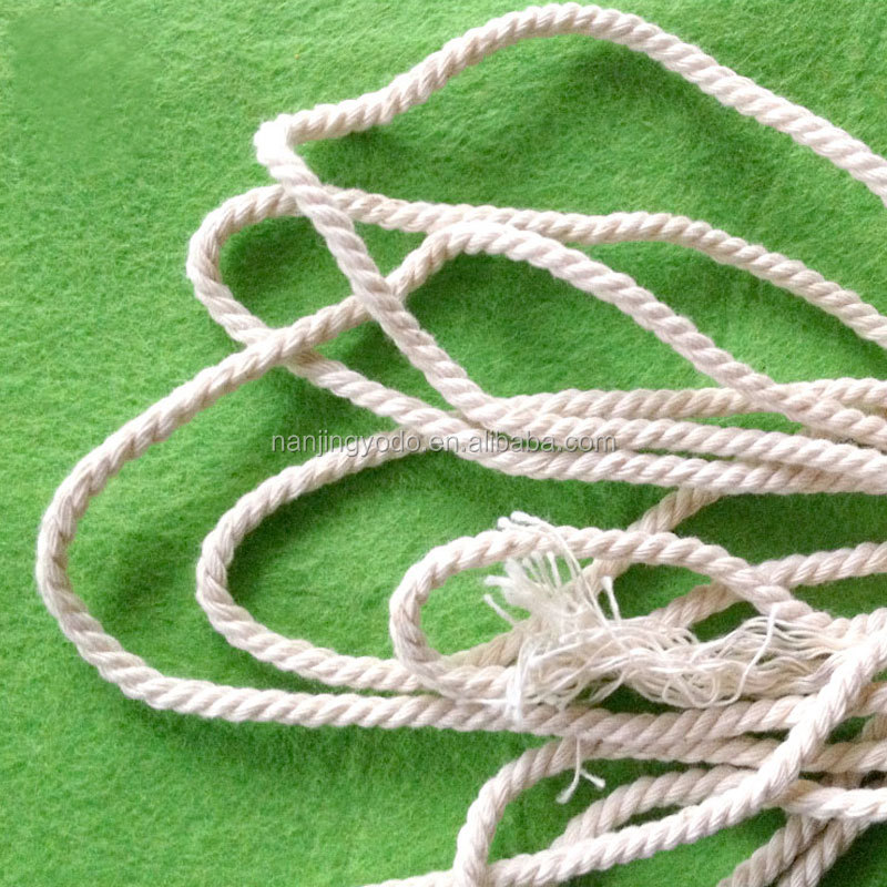 YQ-RY30 3mm 3 strand twisted cotton round cord for Garment drawstring