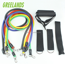 11 STKS Fitness Banden Set <span class=keywords><strong>Elastische</strong></span> Weerstand Oefening Bands Voor Training Gym