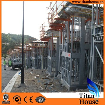 Pre Engineering Two-storey Long-span China Prefabricated Light Frame ...