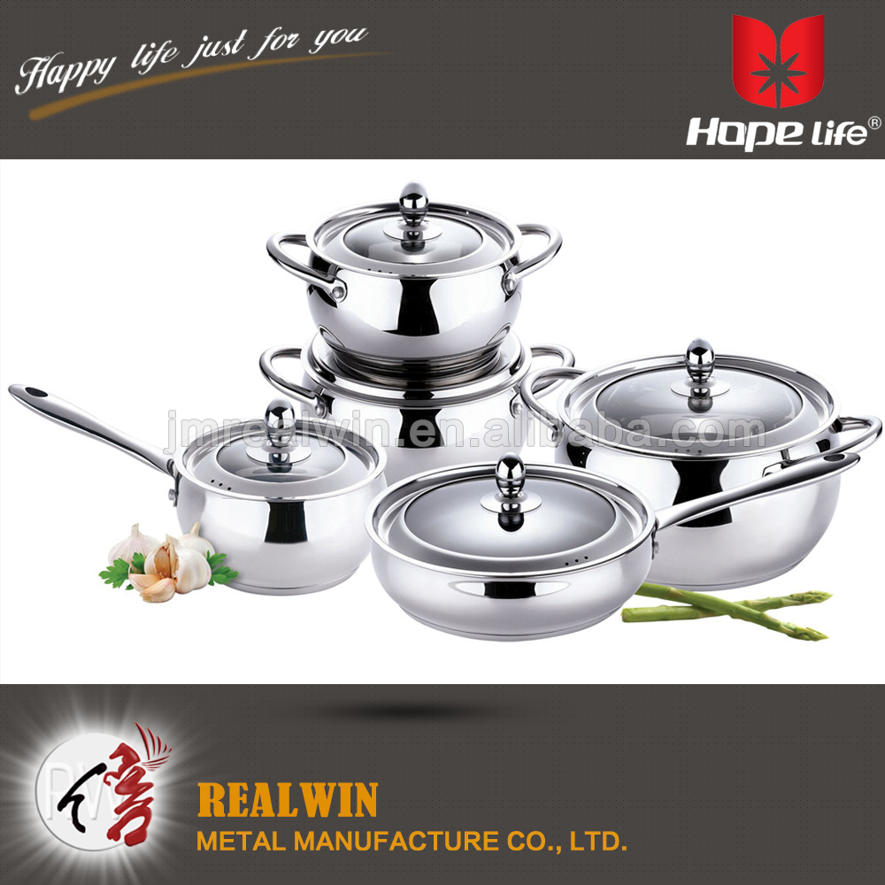 High quality S/S tube handle stainless steel cookware surgical steel cookware , Cookware sets