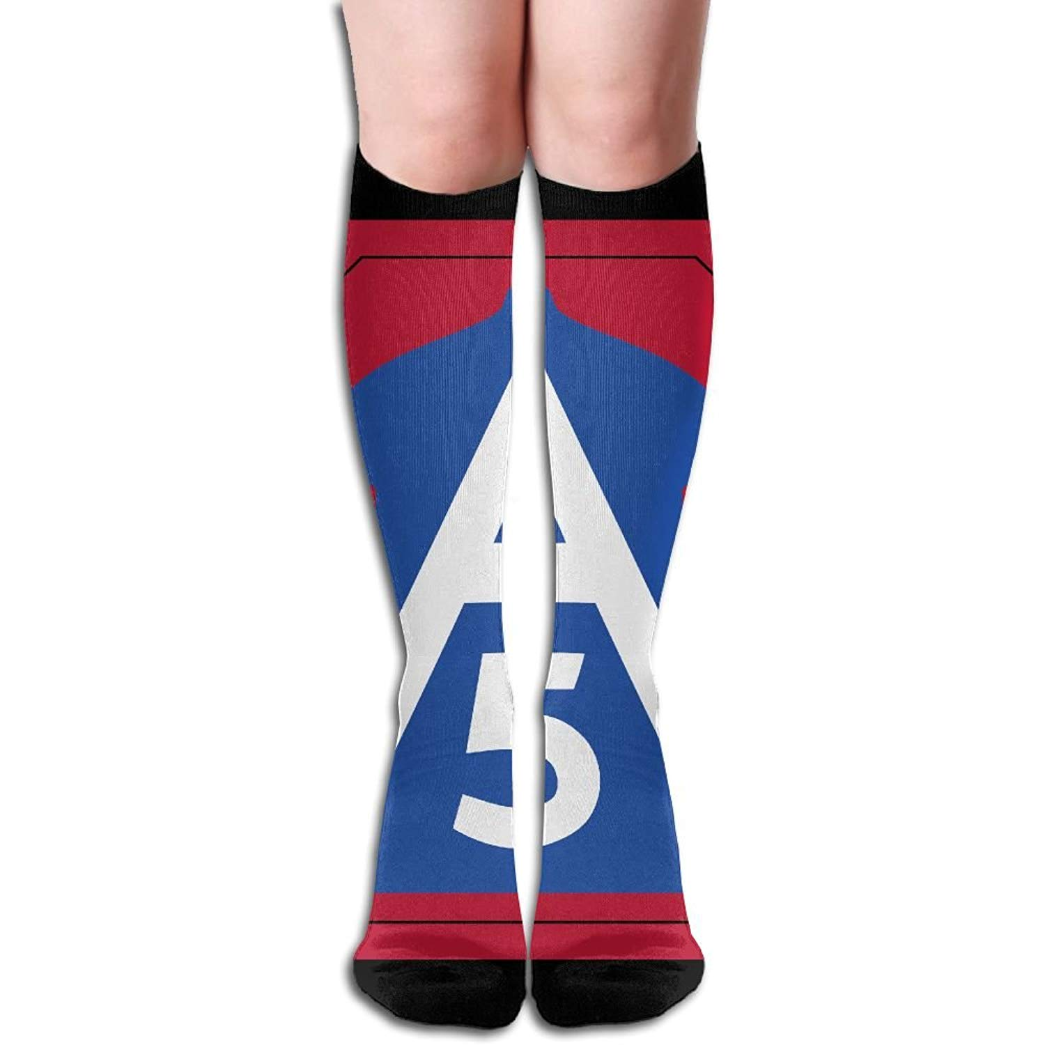 1c1cc6373 Get Quotations · United States Army North Fifth Army Women s Fashion Knee  High Socks Casual Socks