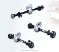 rear axle assembly with hydraulic braking