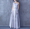Wholesales fashion long dresses women party wear satin dresses