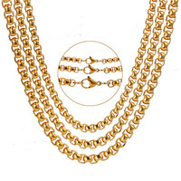 2mm 3mm 4mm dubai gold jewellery designs 18k chain gold necklace for women stainless steel jewelry LTC080