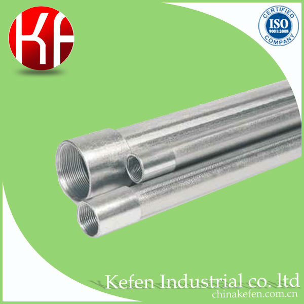 BS4568 32mm HDG class 4 metric steel electrical gi conduit pipes sizes with metric threading on both side