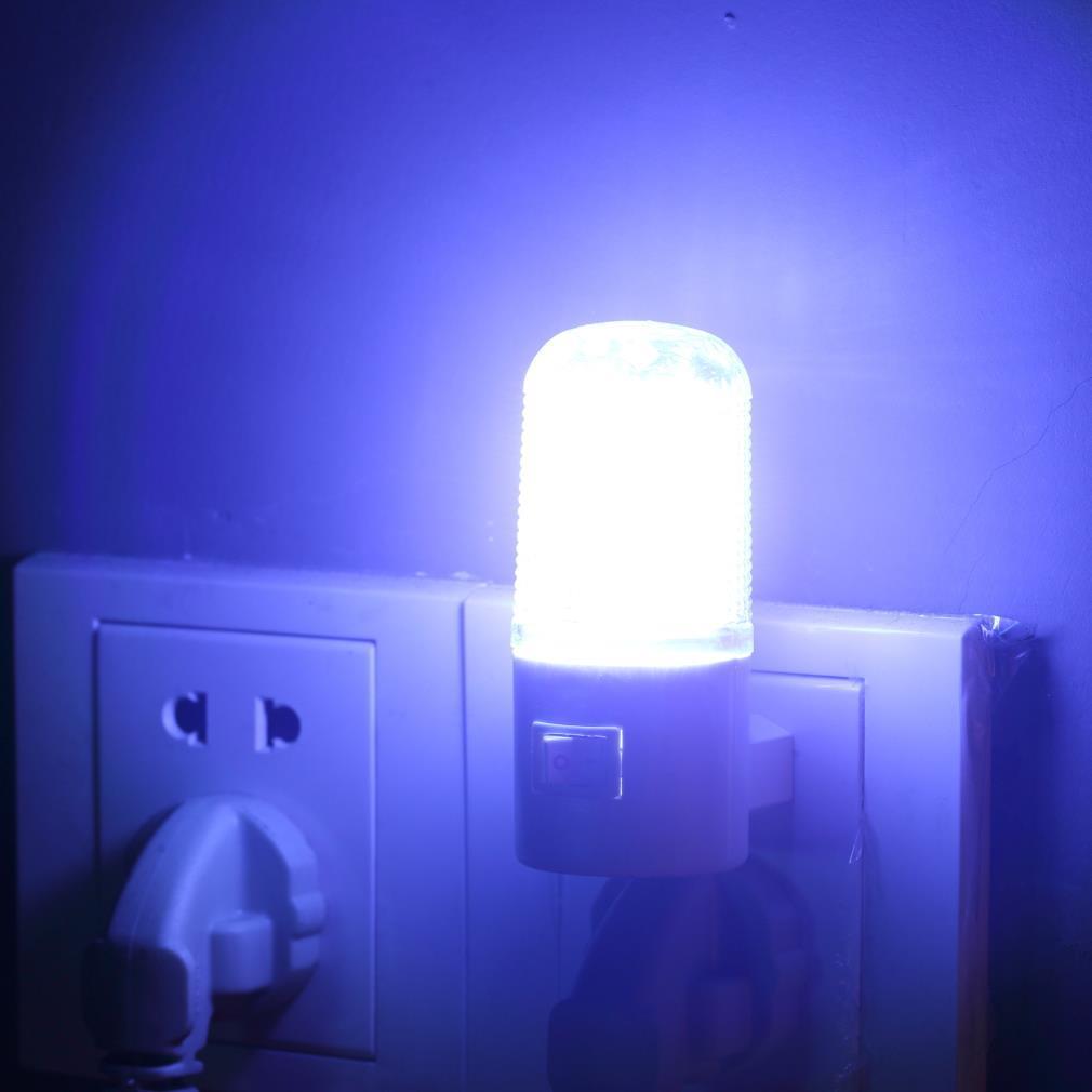 2019 Bedroom Night Light Lamp Us Plug 1w 4 Led Ac Plug