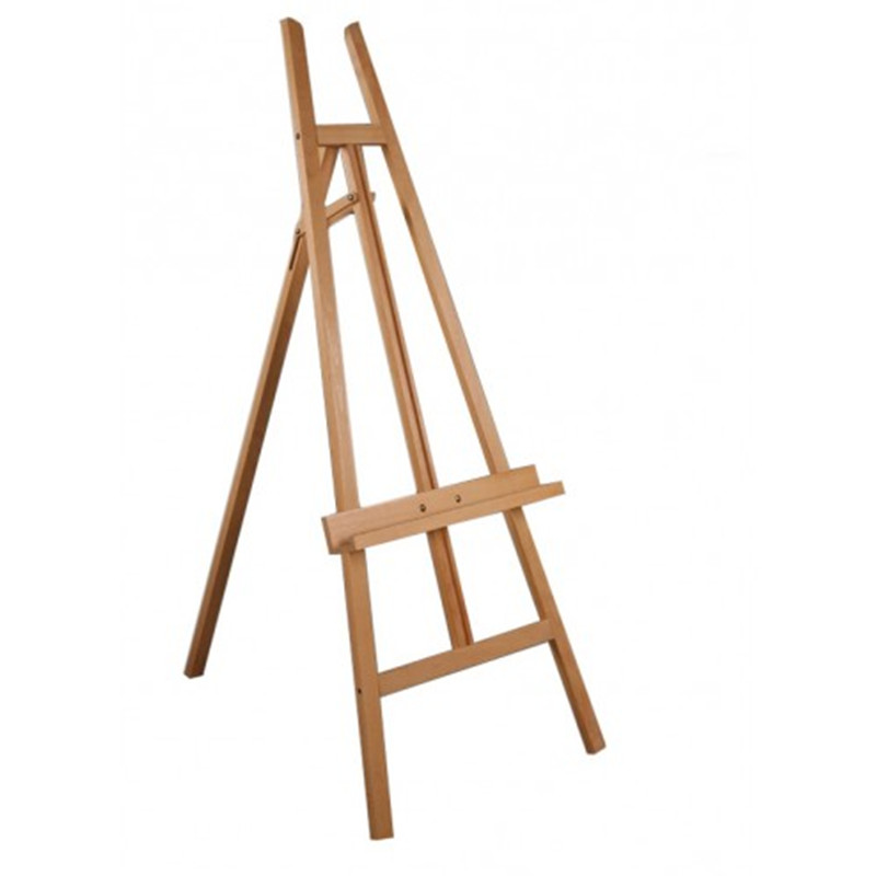 studio design Wooden Tripod Display Artist Easel with Adjustable Tray Chain
