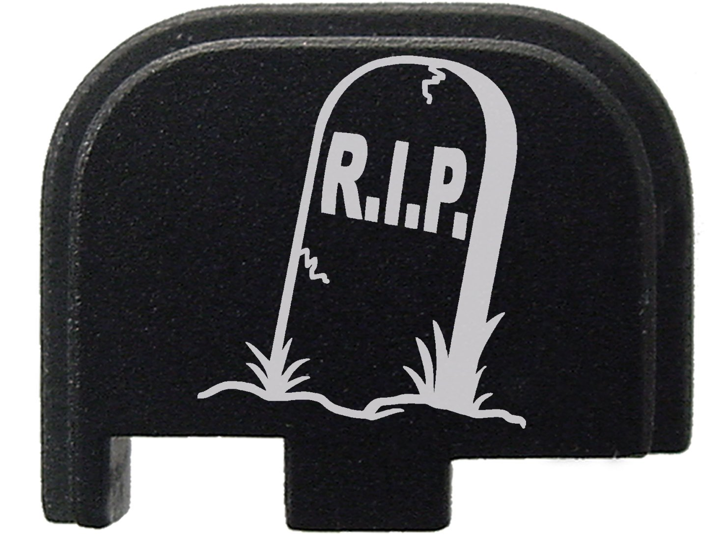 Black Rear Slide Cover Plate for Glock 42 G42 .380 ONLY R.I.P. Tombstone Headstone By NDZ Performance