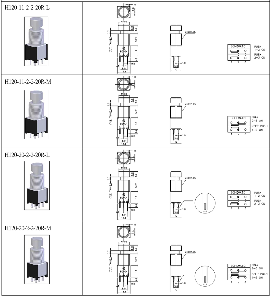 Pcb Terminal Wire Foot Switch 3pdt For Guitar Wiring Diagram Hong Yu Innovation Electronics Co Ltd Is A Professional Enterprise Specialized In The Design And Production Of Switches Band With Led