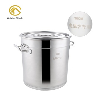 100 Qt Stainless Steel Extra Large Stock Pot Heavy Duty Restaurant Soup Cooking Pots Commercial