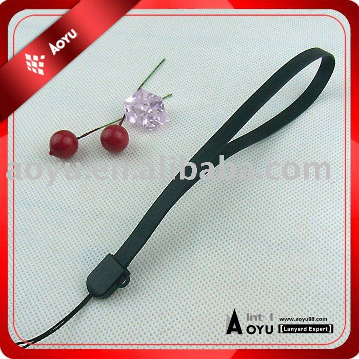 Leather hand strap with plastic phone string use for USB,MP3,Mobile phone