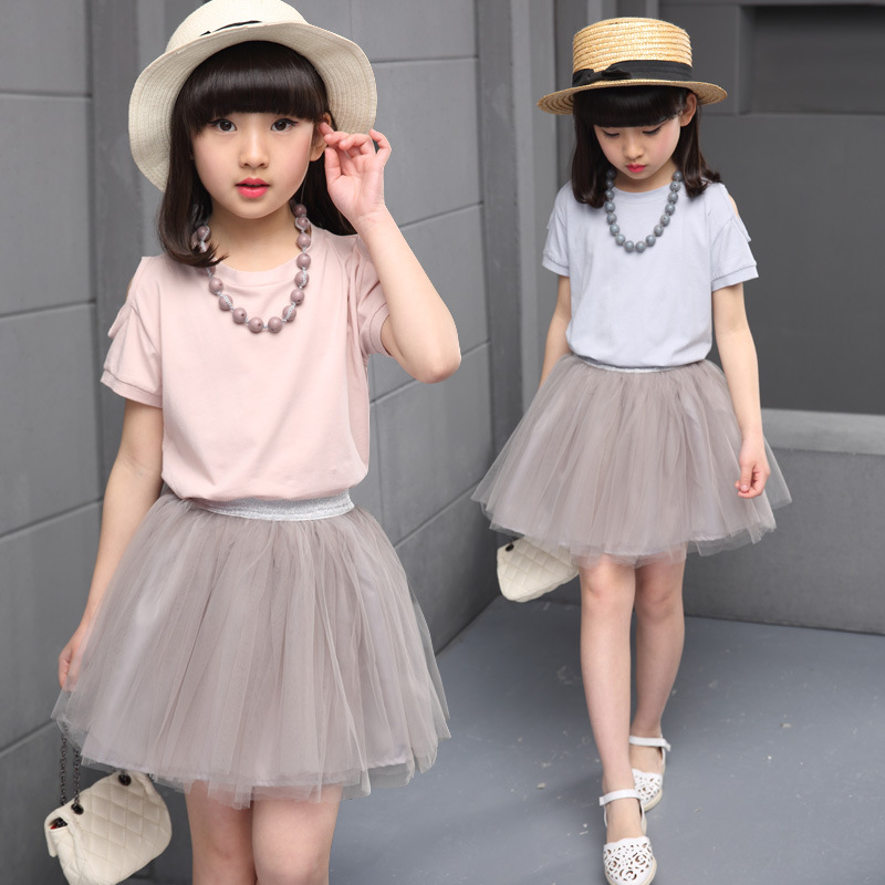Kid's Suit Of Cotton Blouse And Short Tulle Tutu Skirts China Alibaba